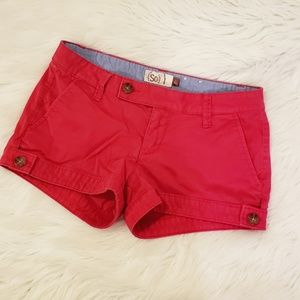 SO Red Summer Shorts Size 3